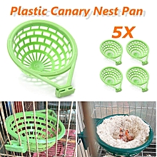 5 x 14cm Plastic Canary Nest Pan & Liner for Nesting Canaries Finches Budgies