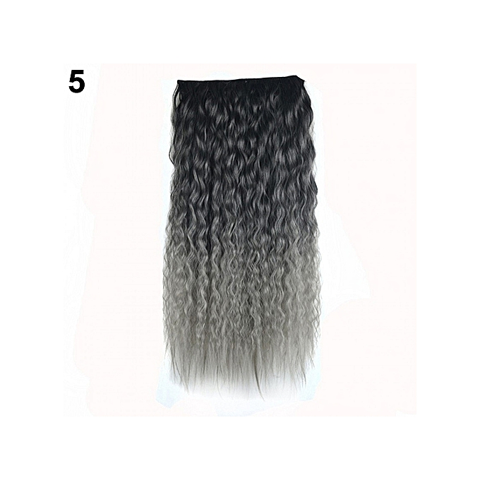 Buy Sanwood Sexy Long Gradient Color Party Women Wavy Curly Clip In
