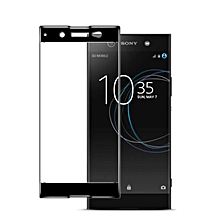 Sony Series Mobile Phones Screen Protector HD Full Coverage Anti-Fingerprint Tempered Glass Screen Protector    XA1    black