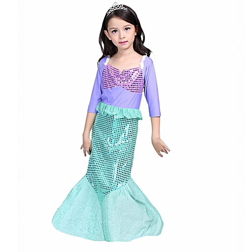 bbf8450e8af Fashion Girls dresses Little Mermaid Fancy Kids Girls Mermaid Dresses  Princess Ariel Cosplay Halloween Costume mermaid-tail WM-241