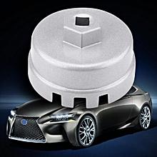 "Car Oil Filter Wrench Cap Socket Drive Tool 3/8"" Silver for Toyota Prius Corolla Rav4 Auris"