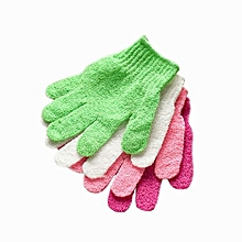 Fohting Shower Gloves Exfoliating Wash Skin Spa Bath Gloves Foam Bath Skid Resistance -Random