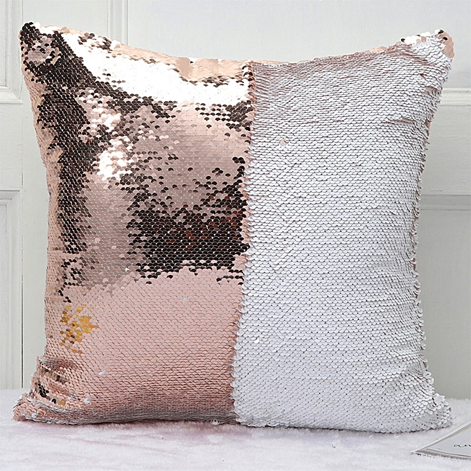 diy two tone glitter sequins throw pillow case reversible sequin magical color changing pillow cover - Color Changing Pillow