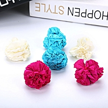 Cat toy paper flower ball cat scratching paper ball bite funny cat ball Red&blue&white