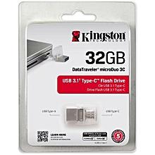 32GB OTG Flash Disk - - Silver