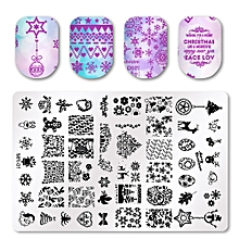 Christmas DIY Nail Styles Art Stamp Template Image Plates Polish Stamping Decal