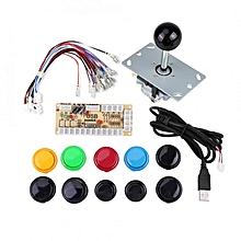 Zero Delay Arcade Game DIY Kits Parts 10 Buttons + Joystick + USB Encoder For MAME PC