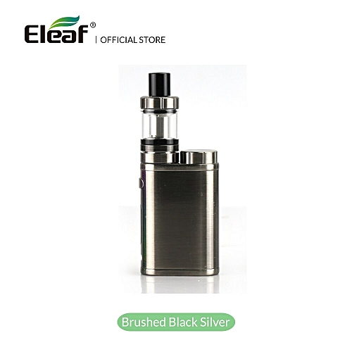 Warehouse Eleaf iStick Pico Kit with MELO III Mini Atomizer 1-75W 2ml Or  4ml Melo 3 tank Vape EC Head E-Cigarette (Brushed Black Silver)