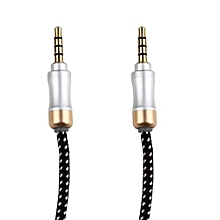 3.5mm Male To Male Car Aux Auxiliary Cord Stereo Audio Cable For Phone iPod -Black
