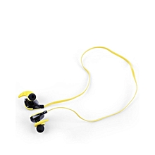 V3 - Bluetooth Sport Earbuds Super Bass With Mic Voice Prompt - Yellow
