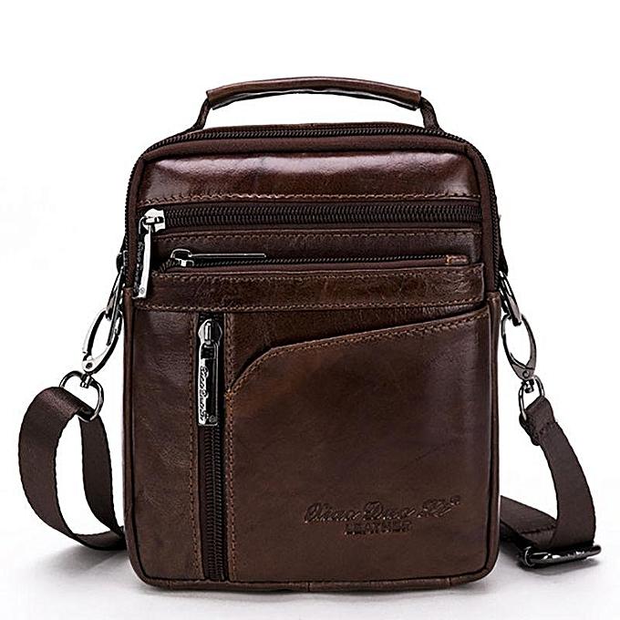 0b11a7ffb491 Men Genuine Leather Shoulder Bag Business Messenger Satchel Crossbody  Handbag
