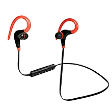 Wireless Headphones Bluetooth Earphone For Sport Earbuds With Microphone Headset Stereo Headphone - Red