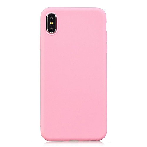 premium selection de983 fd3af for iPhone 8 case Candy Color Case iPhone Matte Soft TPU Case on iPhone  Full Cover Squishy Case-Dark pink