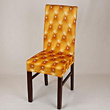 Removable Stretch Spandex Chair Cover Slipcovers Dining Wedding Banquet Decor # Yellow