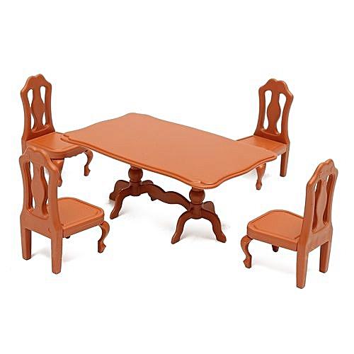 Universal Table Plastic Miniature Doll House Furniture Set Living