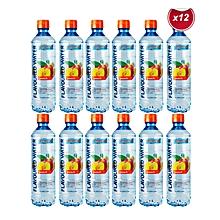 Flavoured Water 500ML - Peach - 12 Bottles