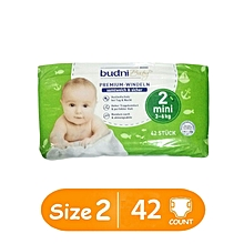 European Baby Pure Cotton Diapers Mini Size 2, 3-6 kgs 42 count