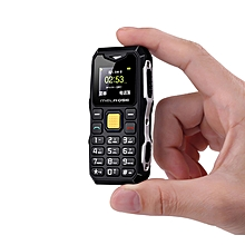 Mobile Cell Phone Long Standby Big Voice Flashlight Fm Mini Small Size-black