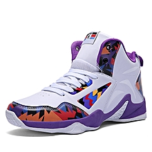 4c8ef6923f0c SHIPPED FROM OVERSEAS. Unisex Sneakers Running Shoes Basketball Shoes -White amp Purple