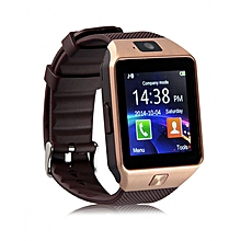 "DZ09 - 1.56"" Smart Watch - 128MB ROM - 64MB RAM - 0.3MP Camera - SIM  - Brown + Gold"
