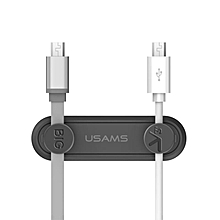 USAMS US-ZB020 Magnetic Cable Clip Desktop Tidy Organizer Cable Management Holder with 2pcs Clip