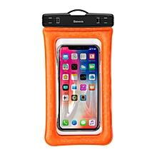 Baseus IPX8 Waterproof Airbag Floating Screen Touch Phone Bag for iPhone Xiaomi Huawei Black/Blue/Orange
