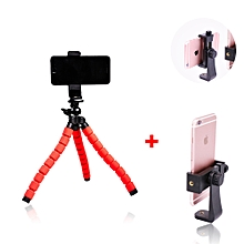 Mini Octopus Flexible Tripod for Mobile Phone Red+360 Phone Mount