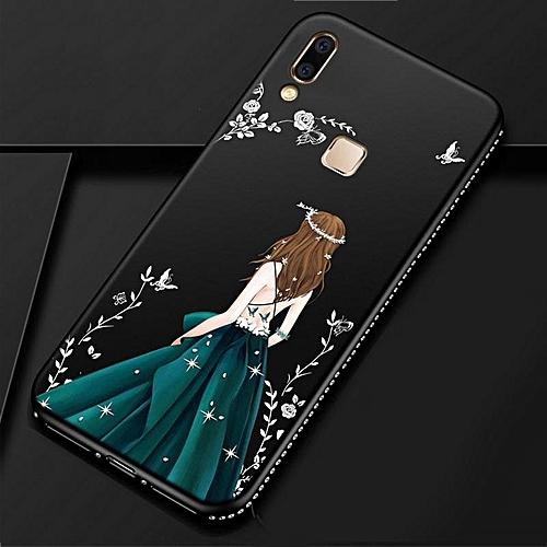 finest selection 09164 f5807 For Vivo V9 Youth Case Goddess Girl Diamond Back Cover Y85 Secret Garden  Glitter TPU Silicone Phone Cases For BBK for Vivo V9 Youth