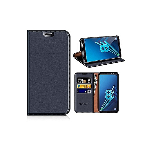 outlet store sale 81291 b0267 Samsung Galaxy A8 2018 Wallet Case, Samsung A8 2018 Leather Case/Phone Flip  Book Cover/Viewing Stand/Card Holder For Samsung Galaxy A8 (2018), Dark ...