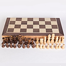 Chess Wooden Set Folding Chessboard Magnetic Pieces Wood Board [30*30cm/ pieces 56mm]