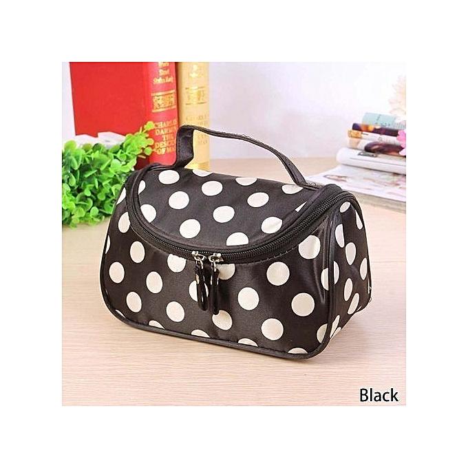 a8b1fc5babe7 Fashion Dot Toiletry Bag Cosmetic Bag Large Capacity Portable Organizer  Women Makeup Bags Storage Travel Bags