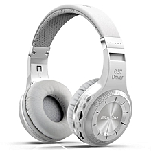 Bluedio HT Hurricane-Turbine Wireless Bluetooth V4.1 Headset Over-The-Ear Headphones (White)-1 Year Bluedio Malaysia Warranty