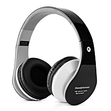 B-01 Stereo Bluetooth Headphone Support TF Card FM Radio with Microphone Black
