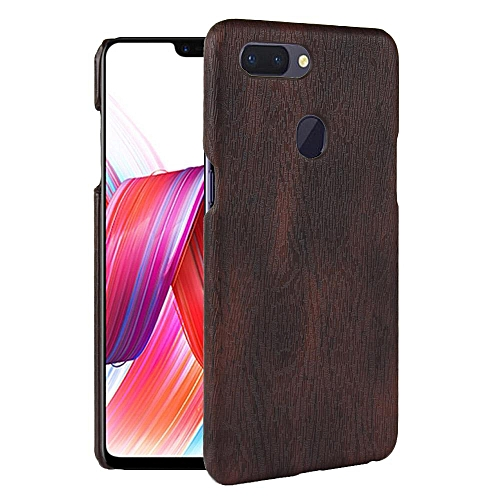 reputable site 2b8f8 6c9a6 OPPO R15 Case, [wood Texture] PU Leather + Hard PC Protective Case Cover  for OPPO R15