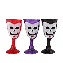 Goblet Plastic Skull Cup Bar KTV Party Cocktails Beer Wine LED Luminous Cup Drinkware Halloween Gift-Black