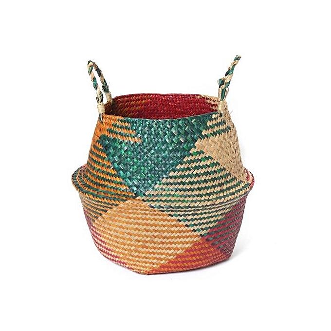 Foldable Belly Basket Multi Color Seagr Storage Nursery Planting Laundry Bag