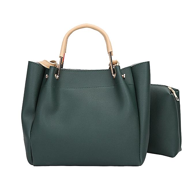 ad0ac26d1c3 jiuhap store Women Two Set Handbag Shoulder Bags Two Pieces Tote Bag  Crossbody Bag-Green