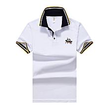 Men's Polo Shirt for Men Desiger Polos Men Cotton Short Sleeve Shirt Clothes Jerseys Golftennis Plus Size-white