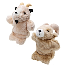 27CM Stuffed Toy Antelope Fairy Tale Hand Puppet Classic Children Figure Toys Plush Aniaml-old goat