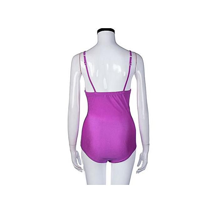 0c1340fd380ed Xingbiaocao Women s Swimwear One Piece Swimsuit Push Up Bikini Bathing Suit  S - Pink