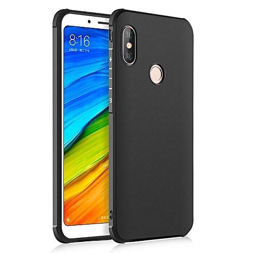 new product 6ea73 12624 Xiaomi Redmi Note 5 Pro Silicon Case Matte TPU Anti-knock Phone Back Cover  - Black
