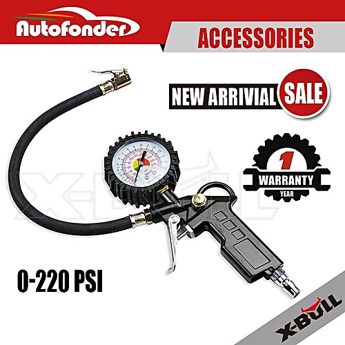 Generic 220PSI Tire/Tyre Inflator Auto Car Vehicle Air Compressor Pressure Gauge