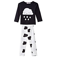 Print Baby Boys Twinset - Black+White