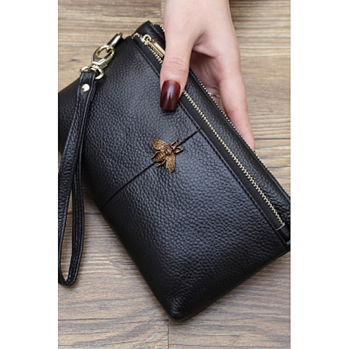 black European station simple versatile handbag female ultra-thin long  wallet female leather 139beee395b2