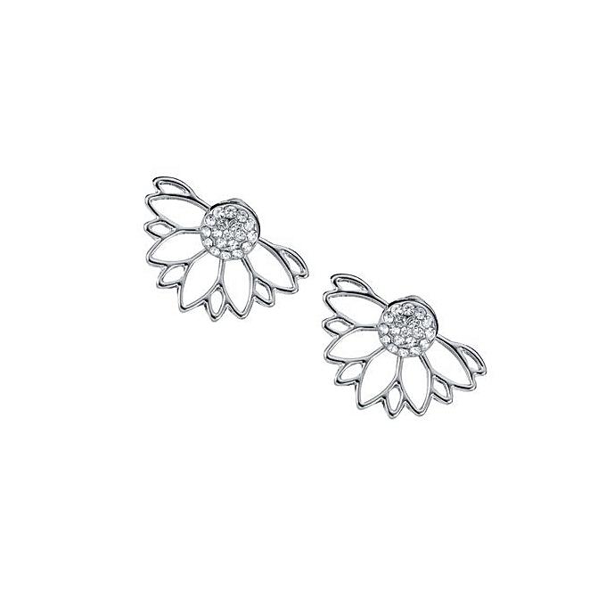 b9fb1b799 Women Rhinestone Stud Earrings 1 Pair Jewelry Princess Girls Alloy Charms