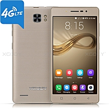 "5"" 4G LTE Android 7.0 Smartphone Quad Core un-locked 16GB 2SIM Cell phone-GOLD"