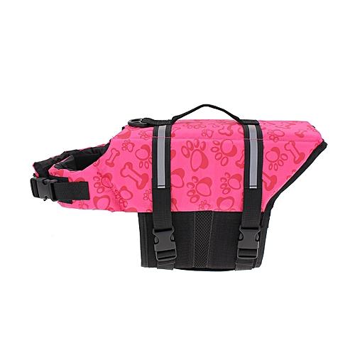 c06b552a581e Pet Aquatic Reflective Preserver Float Vest Dog Cat Saver Life Jacket New  Pink Bone Size:XS