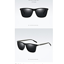 HD Polarized Aluminium Magnesium Sunglasses UV400 men women Driving fashion vintage Eyewear Glasses oculos de sol-black