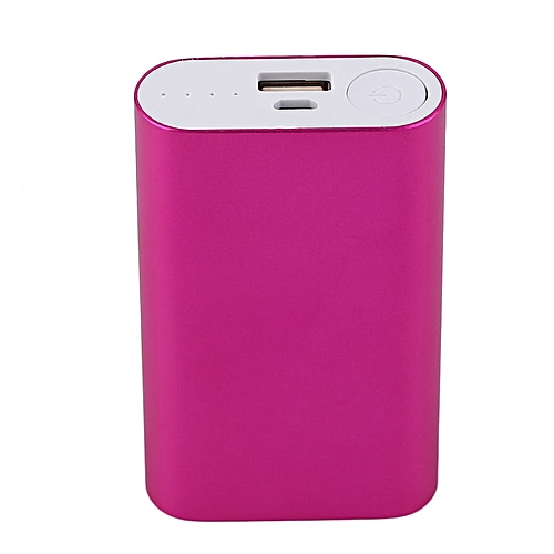HP-5600MAH Portable Size USB Charging External Power Bank Case 2*18650 Charger red - red