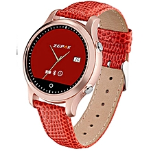 New Bluetooth SmartWatch ZGPAX S360 Mens Women Sports WristWatch Wearable Devices Smart Watch For IOS Android Fitness Tracker (Color:Red)